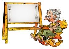 Рецепт бабушки Иллюстрация вектора