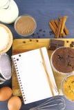 рецепт булочек Стоковое Изображение RF