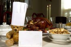 Рецепт благодарения стоковое изображение rf
