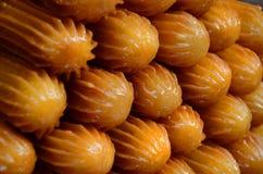 Рецепт десерта Tulumba стоковое изображение rf