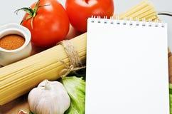 рецепт еды Стоковые Фото