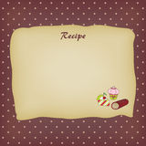 рецепт карточки Стоковые Фотографии RF