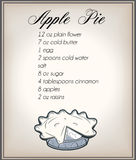Рецепт пирога Appel Стоковое Изображение