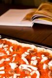 Рецепт пиццы Стоковое Фото