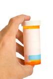 рецепт пустой бутылки пустой Стоковое Изображение RF