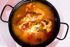 Рецепт риса домодельный Валенсии стоковое изображение rf