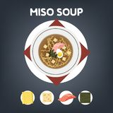 Рецепт супа мисо для варить дома иллюстрация штока