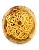 Рецепт Murukku индийский на естественной плите лист ладони Стоковое Фото