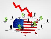 Рецессия Америки Стоковое фото RF