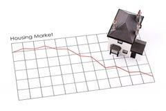 рецессия рынка недвижимости стоковое фото