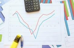 Рецессия, торможение и подъем в диаграмму Стоковое фото RF