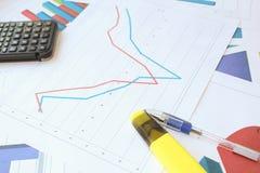 Рецессия, торможение и спасение в диаграмме Стоковая Фотография RF