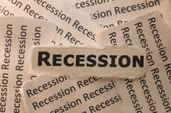 рецессия Стоковая Фотография