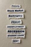 рецессия Стоковые Изображения