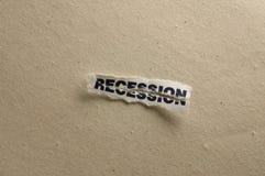 рецессия Стоковые Фото