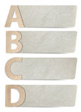рециркулированная бумага пем алфавита Стоковые Фото