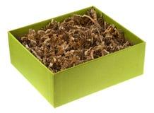 рециркулированная бумага подарка коробки экологическая shreded Стоковые Изображения RF