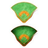 рециркулированная бумага поля бейсбола Стоковое Изображение RF