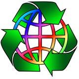 рециркулированная радуга глобуса Стоковое Изображение RF