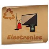 Рециркулировать памятку электроники Стоковое Изображение RF