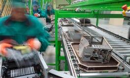 Рециркулировать электронику фабрики Стоковые Фото