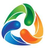 Рециркулируйте абстрактный логос Стоковые Фото
