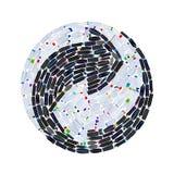 Рециркулируйте символ сделанный из много пластичных бутылок - изолированных на белизне Стоковые Фотографии RF