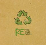 Рециркулированная бумага с знаком Eco Стоковая Фотография RF