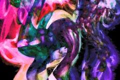 Рециркулированное искусство дыма Стоковая Фотография RF