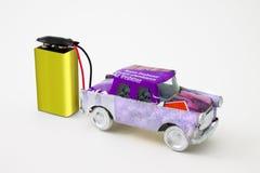 Рециркулированный электрический автомобиль Стоковые Фото