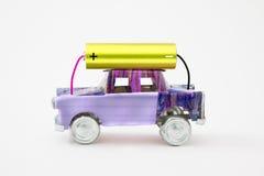 Рециркулированный электрический автомобиль Стоковые Изображения RF