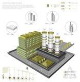 Рециркулировать здание фабрики иллюстрация вектора