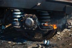 Рециркулировать пар колеса поезда Стоковые Фотографии RF