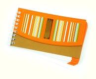 Рециркулируйте бумажную тетрадь Стоковые Изображения