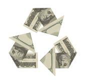 Рециркулируйте деньги Стоковые Фотографии RF
