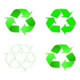 Рециркулируйте значок консервации зеленая икона вектор Стоковые Изображения RF