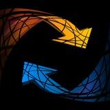 рециркулируйте символ Рециркулируйте вектор символа Рециркулируйте изображение символа Стоковые Фотографии RF