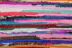 Рециркулирующ, handmade красочный этнический ретро половик Стоковое Изображение