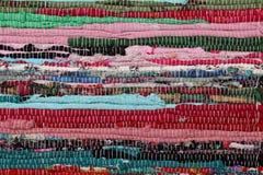 Рециркулирующ, handmade красочный этнический ретро половик Стоковое фото RF