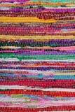Рециркулирующ, handmade красочный этнический ретро половик Стоковое Фото
