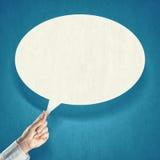 речи персоны пузыря вектор графической говоря Стоковое Фото