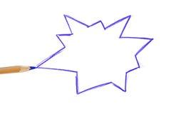 речи персоны пузыря вектор графической говоря Стоковые Фото