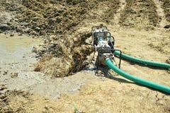 речная вода насоса стока Стоковая Фотография