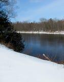 Речной берег зимы Стоковое Фото