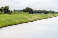 Речной берег канала водного пути Стоковая Фотография