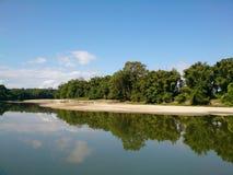 Речной берег Maykha Стоковое Фото