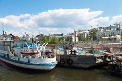 Речной порт самары Стоковое Изображение