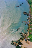 Речной порт с шлюпками Стоковые Фото