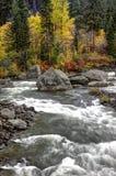 Речные пороги на реке Wenatchee Стоковое фото RF