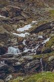 Речные пороги потока горы Стоковая Фотография RF
